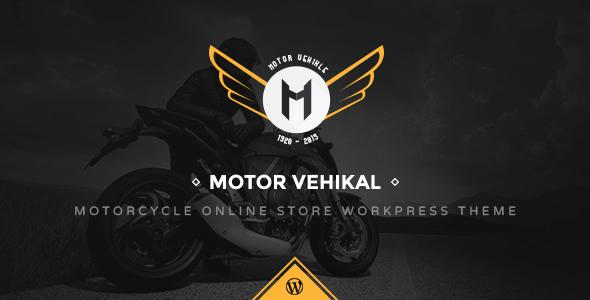 Download Motor Vehikal - Motorcycle Online Store WordPress Theme Store WordPress Themes