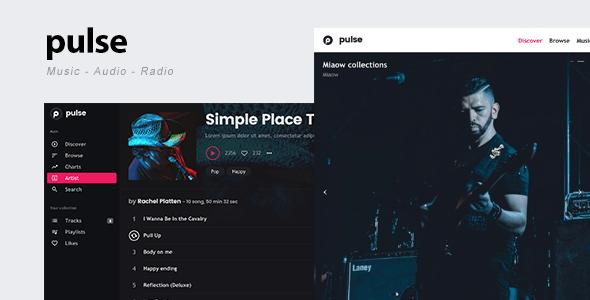 Download pulse - Music, Audio, Radio WordPress Theme Radio WordPress Themes