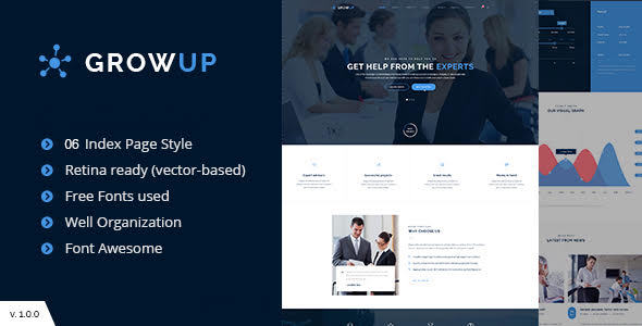 Download GrowUp Business & Financial WordPress Theme Amp WordPress Themes