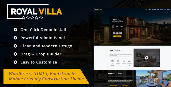 Download RoyalVilla - WordPress Theme for Single Property Property WordPress Themes