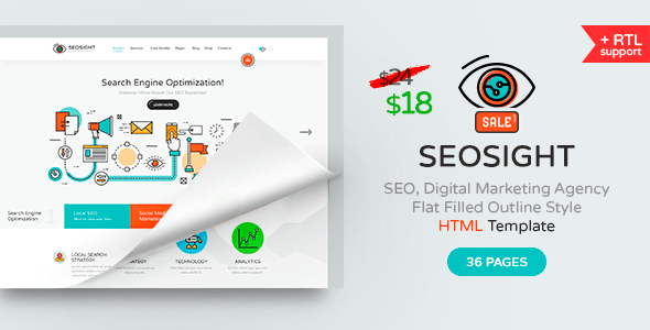 Download Seosight - SEO, Digital Marketing Agency HTML Template Fast Html Templates