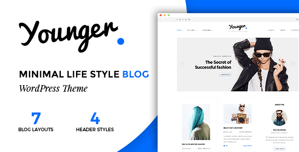 Download Younger Blogger - Personal Blog Theme Grid Blogger Templates
