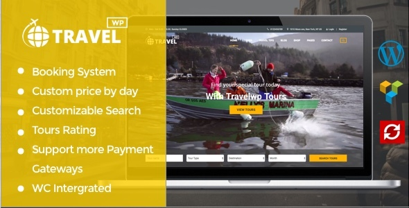 Download Travel WP - Tour & Travel WordPress Theme for Travel Agency and Tour Operator Travel WordPress Themes