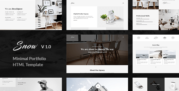 Download Snow   Minimal & Clean HTML Portfolio Template Simple Html Templates