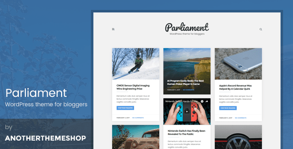 Download The Parliament - Masonry Grid WordPress Blog Theme Grid WordPress Themes