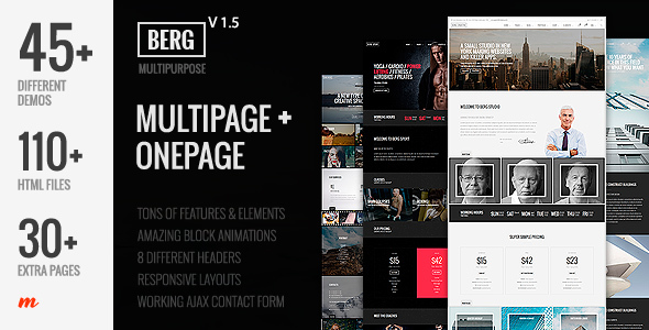 Download Berg - Multipurpose One Page & Multi Page Template Retro Html Templates