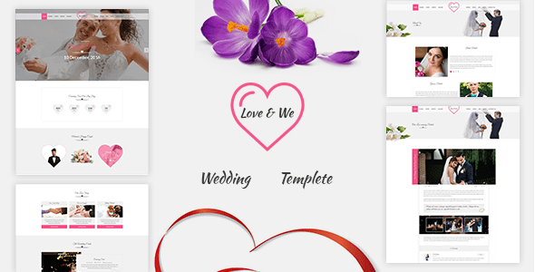 Download Love & We Wedding HTML Template Wedding Html Templates