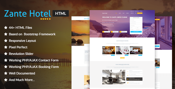 Download Zante Hotel - Hotel & Resort HTML Template Amp Html Templates