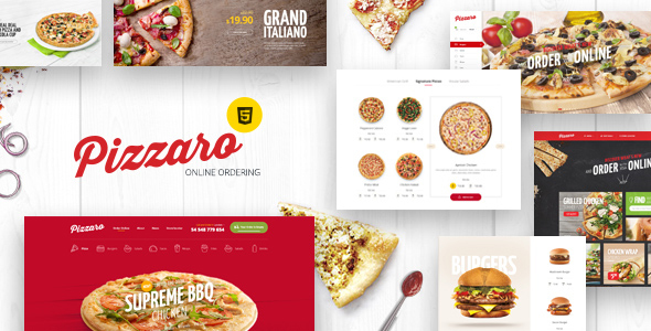 Download Pizzaro - Fast Food & Restaurant HTML template Restaurant Html Templates