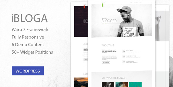 Download iBloga — Photo, Fashion, Music, Nightlife, Literary & Art Professional Blog Template Fashion Blogger Templates
