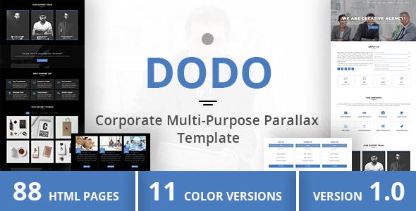 Download DODO - Corporate Multi-Purpose Parallax Template Pink Html Templates
