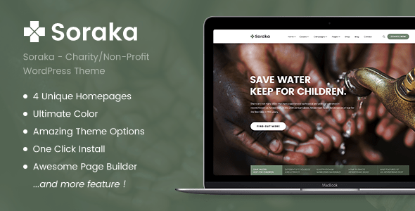 Download Soraka - Charity/Non-profit Organization WordPress Theme Organization WordPress Themes