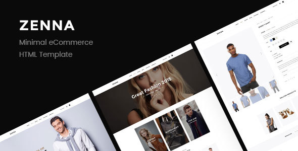 Download Zenna | Minimal E-commerce HTML Template Fast Load Html Templates