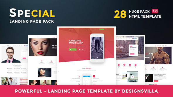 Download Special - Landing Page HTML Pack Youtube Html Templates