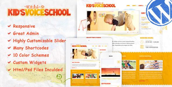Download Kids Voice School - Responsive WordPress Theme School WordPress Themes