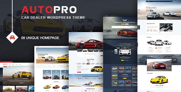 Download AutoPro - Car Dealer WordPress Theme Car WordPress Themes