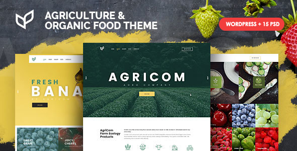 Download Agricom - Agriculture & Organic Food WordPress Theme Pack Organization WordPress Themes