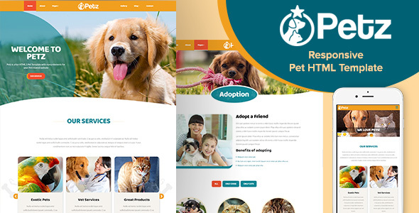 Download Petz - Responsive HTML Template Responsive Html Templates