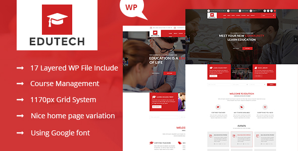Download Edutech - Education, Course, Event & University WordPress Theme University WordPress Themes