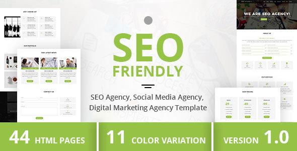 Download SEO Friendly - SEO Agency, Social Media Agency, Digital Marketing Agency Template Pink Html Templates