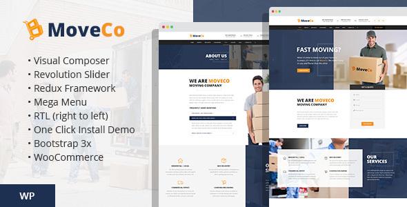 Download MoveCo - Logistics, Moving Company WordPress Theme Company WordPress Themes
