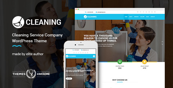 Download Cleaning Service Company WordPress Theme Company WordPress Themes