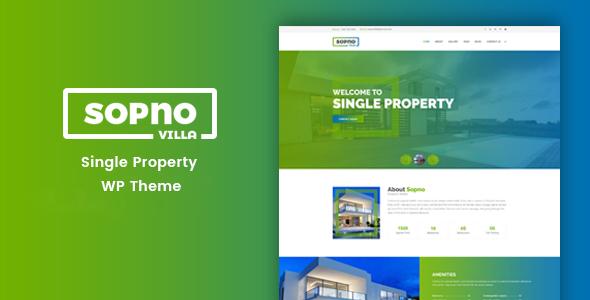 Download Sopnovilla – Single Property WordPress Theme Property WordPress Themes