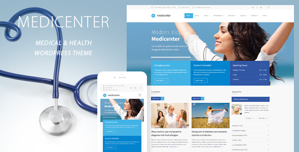 Download MediCenter - Responsive Medical WordPress Theme Hospital WordPress Themes