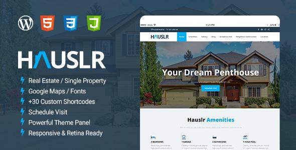Download Hauslr - Single Property WordPress Theme Property WordPress Themes