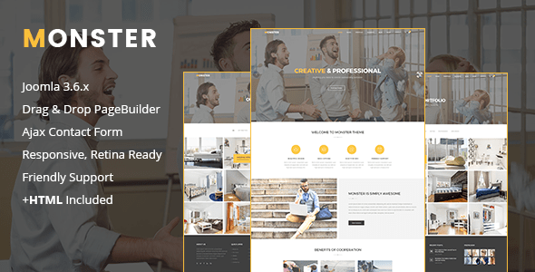Download Monster | Creative Business Joomla Template Fashion Joomla Templates