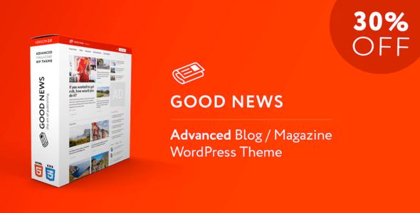 Download Good News - Multi-Niche Blog / Magazine / Newspaper WordPress Theme Newspaper WordPress Themes