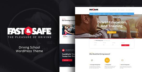 Download Fast & Safe | Driving School WordPress Theme School WordPress Themes