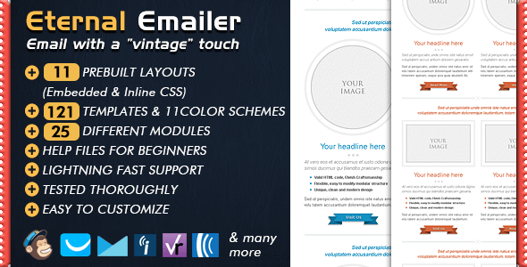 Download Email Template - ETERNAL Newsletter Retro Html Templates
