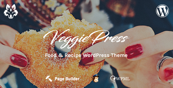 Download VeggiePress - Food and Recipe WordPress Theme Recipe WordPress Themes