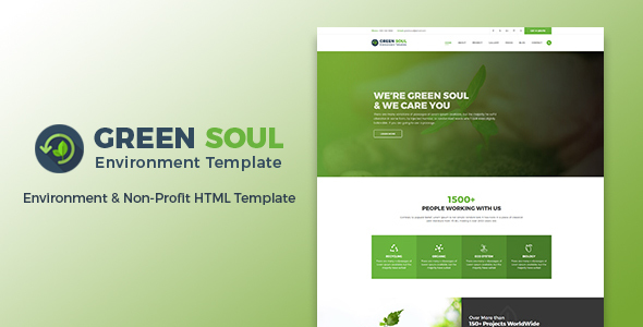 Download Green Soul - Environment & Non-Profit HTML Template Green Html Templates