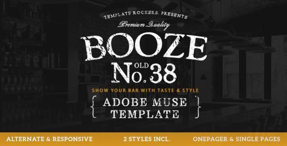 Download Booze - Bar & Restaurant Muse Template Vintage Joomla Templates