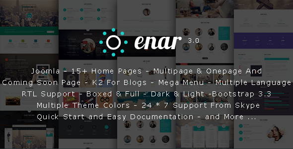 Download Enar - Responsive Multi-Purpose Joomla Template Job Joomla Templates