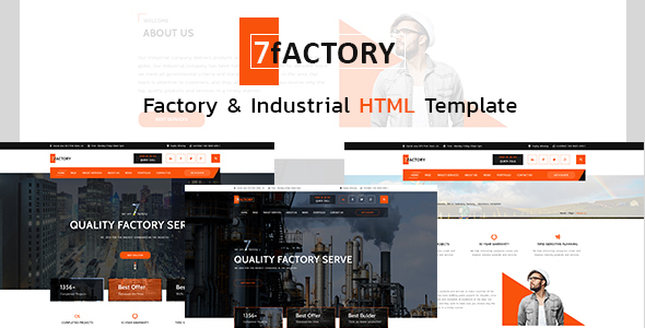 Download 7fACTORY - Industrial, Factory & Manufacturing HTML Template Amp Html Templates