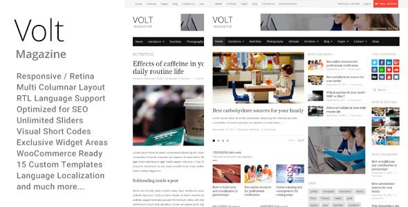Download Volt - Newspaper Magazine theme WordPress Newspaper WordPress Themes