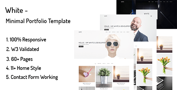 Download White – Minimal Portfolio Template White Html Templates