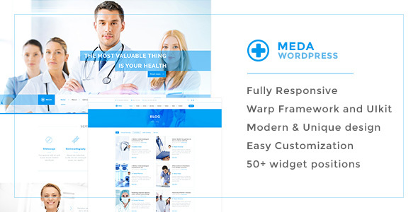 Download Meda — Health and Medical Responsive WordPress Theme For Hospitals, Doctors, Clinics & Blogs Hospital WordPress Themes