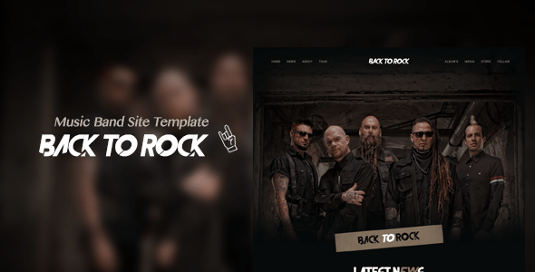 Download Back to Rock - Creative Music Band Website Template Band Html Templates