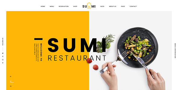 Download Sumi Restaurant HTML Template Restaurant Html Templates