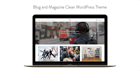 Download Bold - Blog and Magazine Clean WordPress Theme Clean WordPress Themes