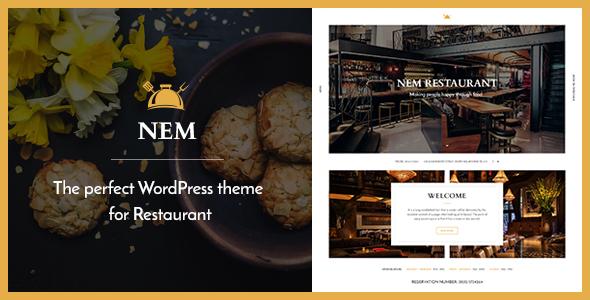 Download Restaurant WordPress Theme   NEM Restaurant Wordrpess Themes