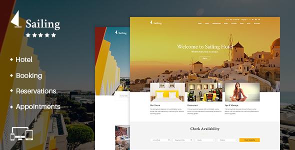 Download Hotel WordPress Theme | Sailing Hotel WordPress Themes