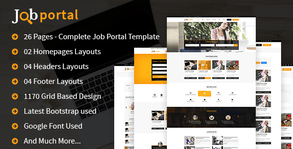 Download Job Portal HTML Template Portal Html Templates
