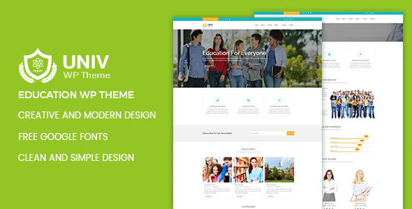 Download Univ – Education WordPress Theme Education WordPress Themes