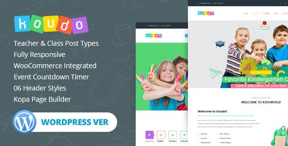 Download Koudo Education WordPress theme Education WordPress Themes