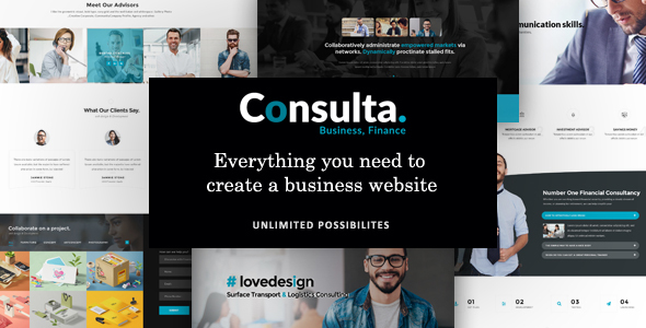 Download Consulta - Professional Business & Financial WordPress Theme Amp WordPress Themes